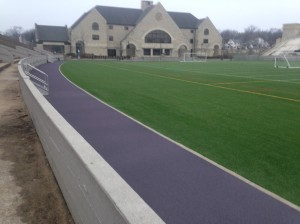 Outdoor track and playing field at KU