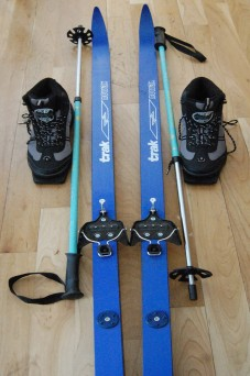 My cross-country skiing equipment.