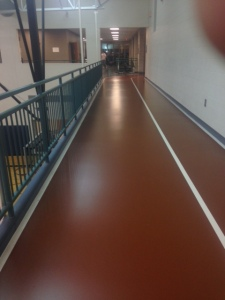 Indoor running track.
